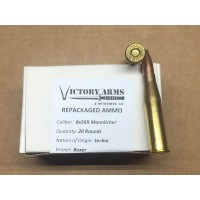 8x56R Mannlicher Commercial Repackaged - 20rds - 208gr SP