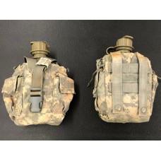 USGI Surplus 1 Quart Canteen with ACU MOLLE Carrier