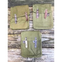 Romanian Export AK 30rd 4-Cell Magazine Pouch - Canvas Dark OD