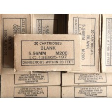 USGI Surplus 5.56 Blanks M200 - 20rd Box